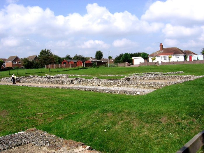 Remains of Roman Fort at Caistor-by-Sea