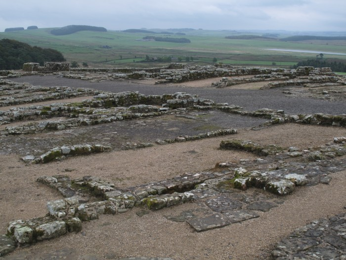 Barracks Remains at Housesteads Fort