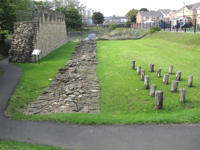 Wall Reconstruction with Original Wall Footings