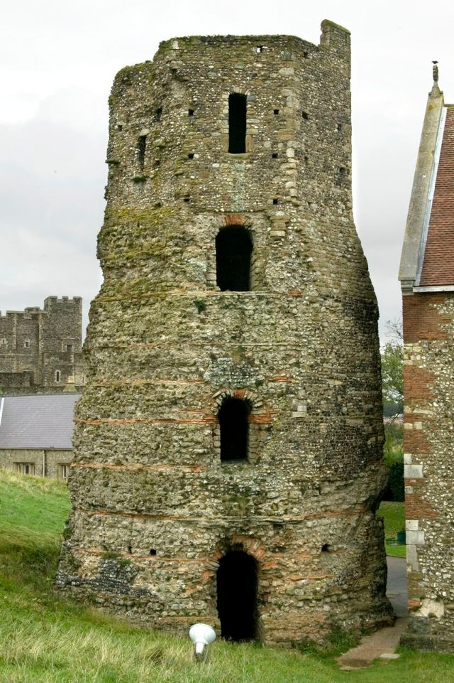 Dover Roman Lighthouse and Painted House