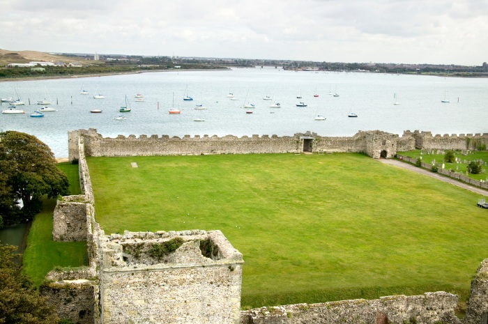 Portchester Castle View from Norman Keep