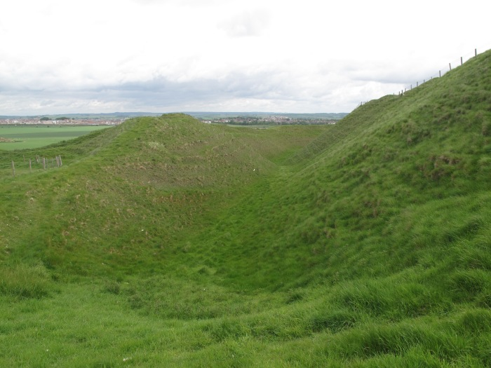 Ramparts of Maiden Castle Iron Age Hillfort