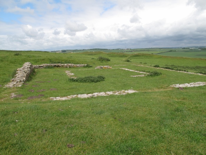 Romano-Celtic Temple on to of Maiden Castle Hillfort