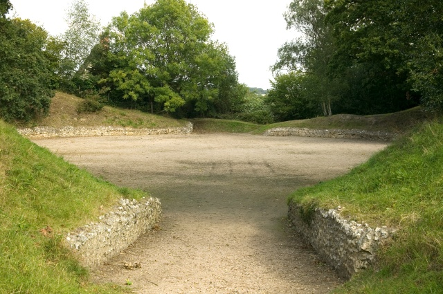 Silchester amphithreatre south entrance