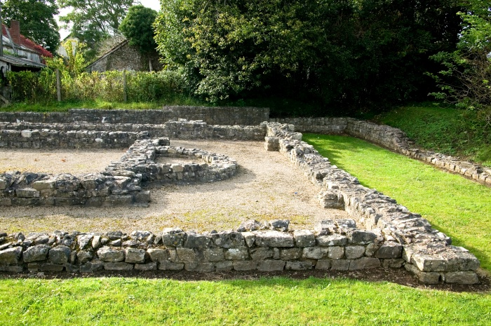 Romano-Celtic Temple at Caerwent, Wales