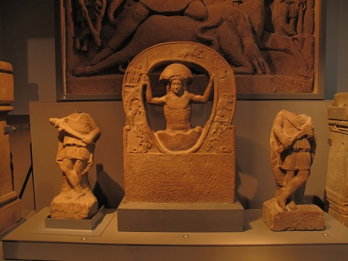 Mithras in Cosmic Egg found at Housesteads, Great North Museum Newcastle