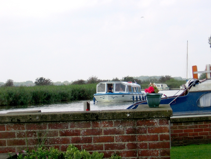 Boats on the Norfolk Broads
