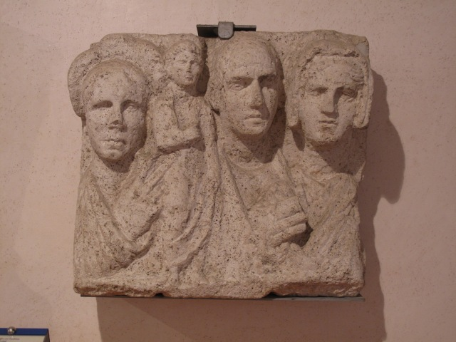 Family Group from Funerary carving. 75-50 BC