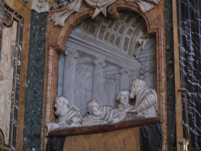 Cornaro Chapel with relief of Cornaro family