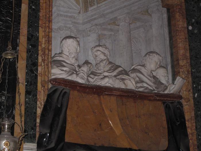 Cornaro Chapel relief of Cornaro family
