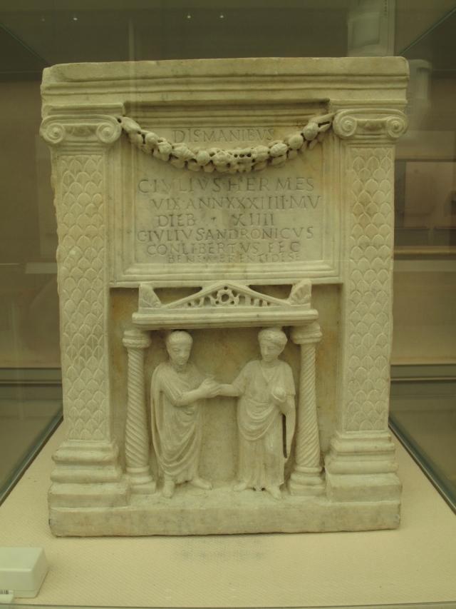 Funerary Urn of C. Iulus Hermes, a freedman. 1st cent. AD