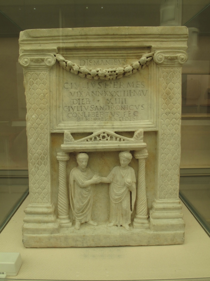 Funerary Urn of C. Iulus Hermes, a freedman. 1st cent. AD
