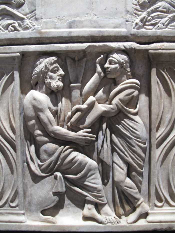 Detail from a Sarcophagus from Exhibit