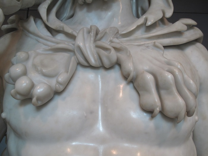 Detail of Commodus as Hercules