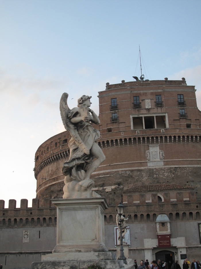 Castel Sant Angelo and one of Bernini's angels