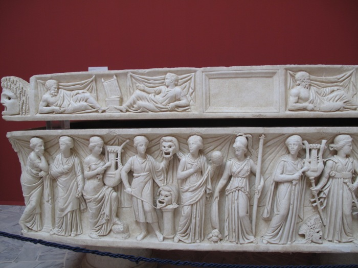 Muse Sarcophagus Detail