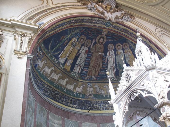 Mosaics in Santa Cecilia