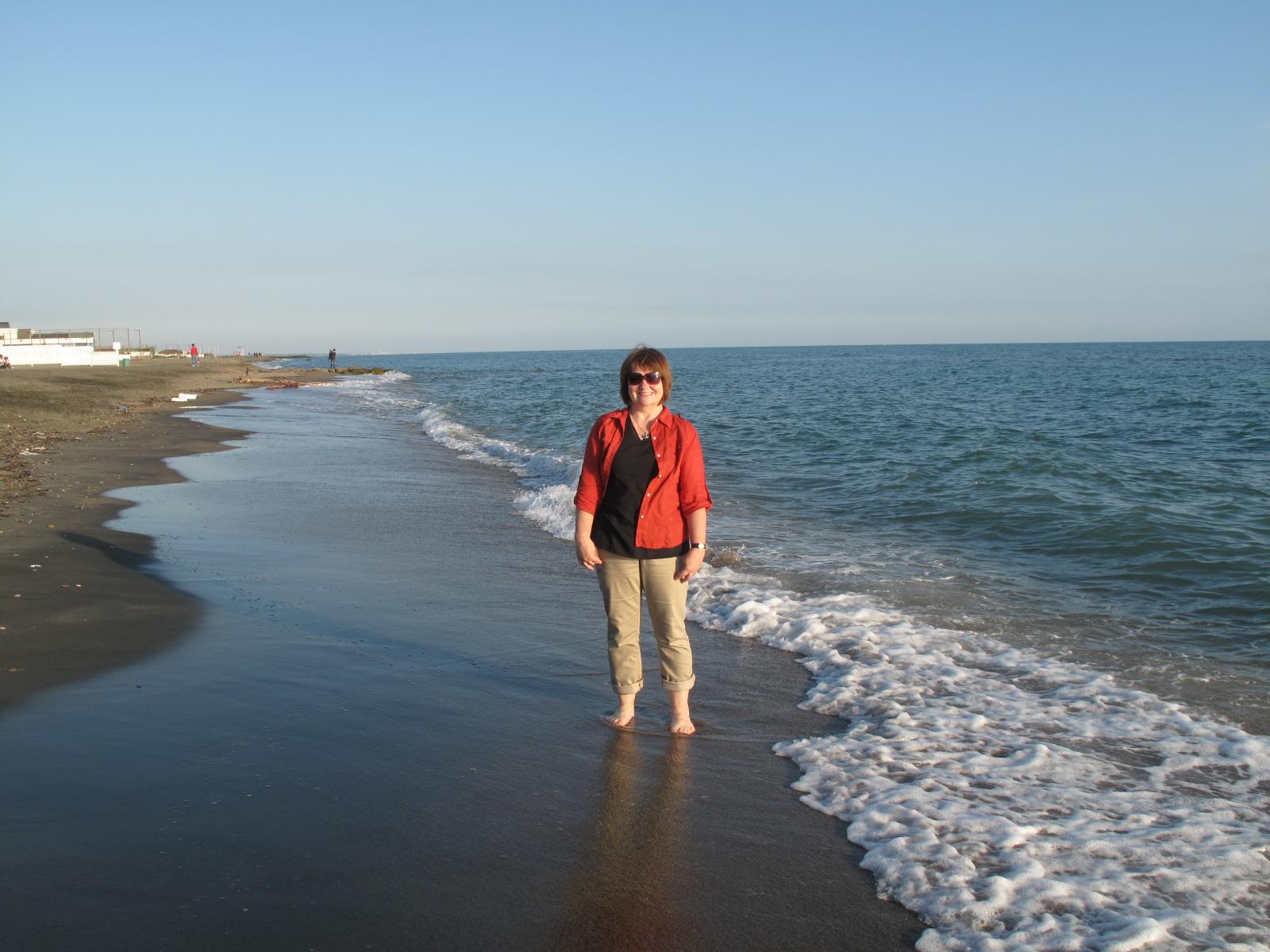 On Ostia Beach