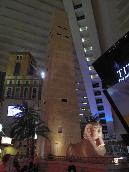 Interior of the Luxor Hotel Lobby