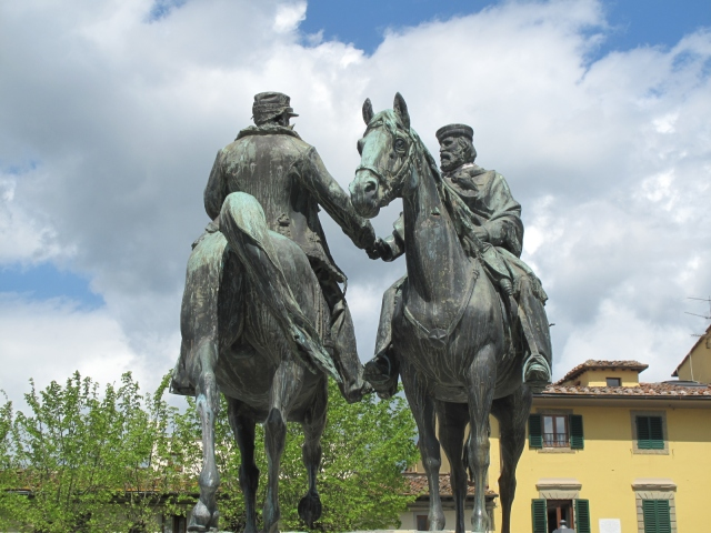 Meeting of Garibaldi and Emanuele Fiesole