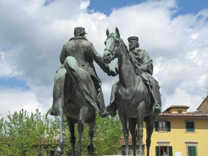 Meeting of Garibaldi and Emanuele Fiesole