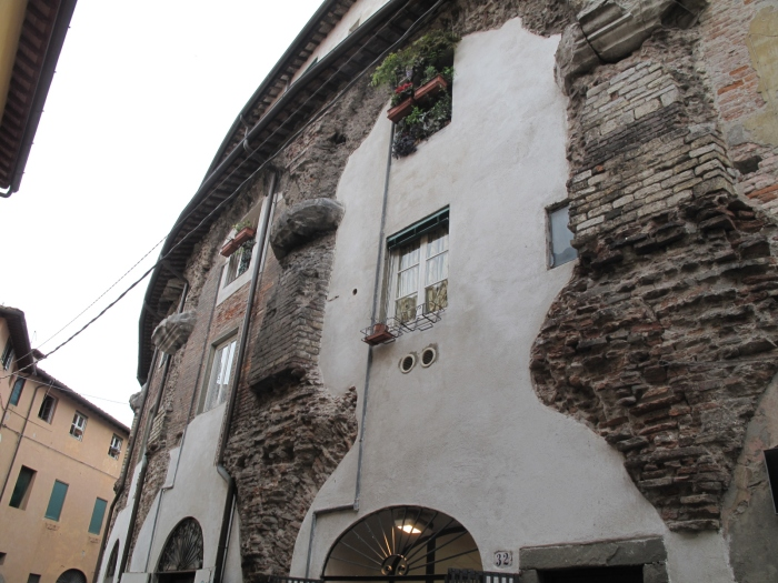 Vestiges of Lucca's ancient amphitheatre